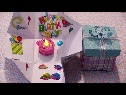 Cajita sorpresa con un pastel dentro para un cumpleaños o 14 de ...