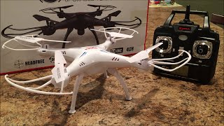 Syma X5sc Unboxing, flight, and camera test