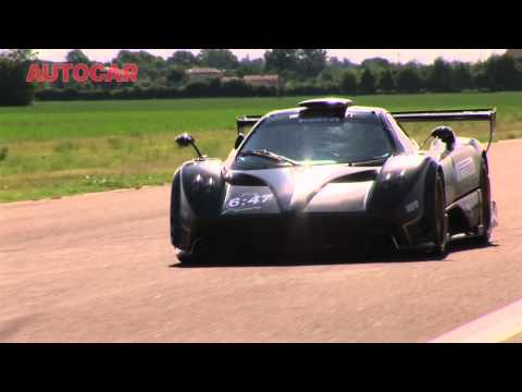 Pagani Zonda R driven by autocar.co.uk
