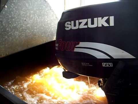 Suzuki 5hp 4stroke engine startup