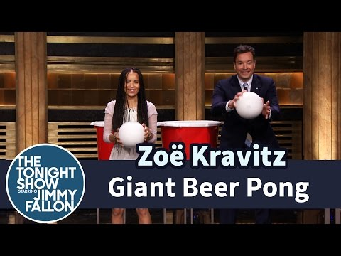 Giant Beer Pong with Zoë Kravitz