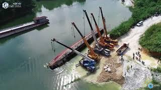 Hành trình trục vớt tàu vận tải 400 tấn