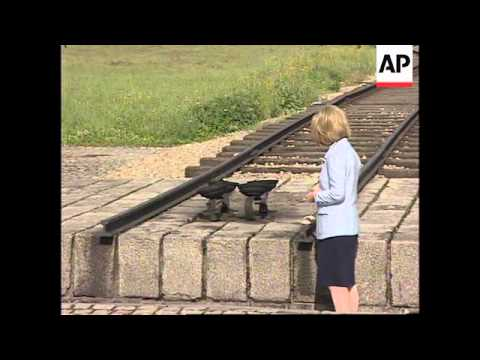 POLAND: HILLARY CLINTON VISITS FORMER AUSCHWITZ CONCENTRATION CAMP