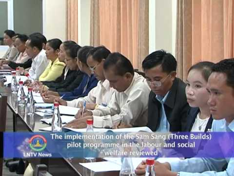 Lao NEWS on LNTV: The implementation of the Sam Sang programme reviewed.8/8/2014