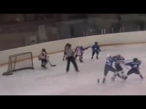 Insane Youth Hockey Brawl In Russia