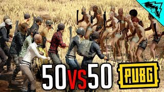 50vs50 MELEE ONLY - PlayerUnknown's Battlegrounds Gameplay Highlights (PUBG Gameplay Custom Game)