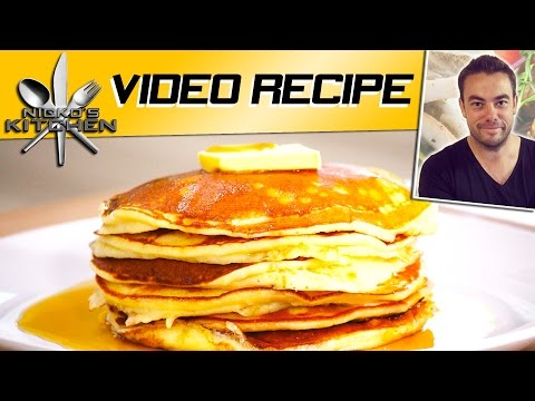EASY PANCAKES (4 Ingredients) - VIDEO RECIPE