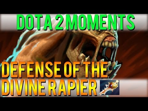 Dota 2 Moments - Defense of the Divine Rapier