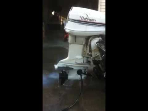 how to start an outboard motor that has been sitting