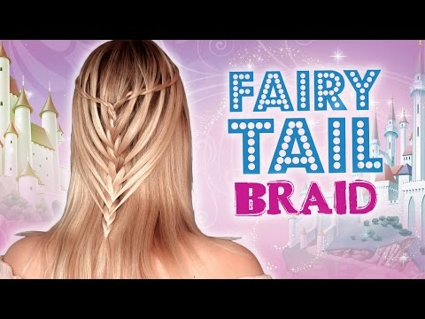Cute Halloween hairstyles: french waterfall braid for a fairy/princess/elf/angel/mermaid