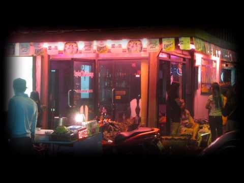 Night time view of a Thai Massage Shop in the Red Light Area of Hua Hin - Soi Bintabaht
