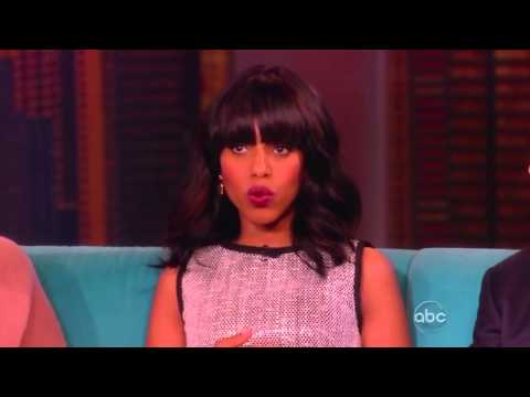 SCANDAL Scene & Interview - KERRY WASHINGTON & TONY GOLDWYN on THE VIEW