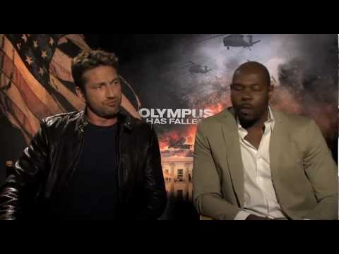 """Gerard Butler & Director Antoine Fuqua Interview """"Olympus Has Fallen"""""""