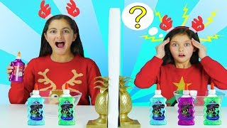 TWIN TELEPATHY Slime Challenge |3 Color Slime| Sis vs Sis!!