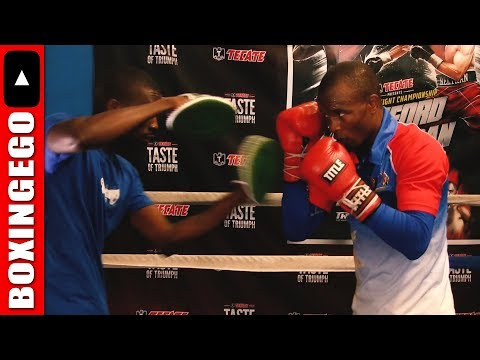 Julius Indongo COMPLETE Mayweather-Esque Mitt WORK 4 Terence Crawford fight UNEDITED boxing skillz