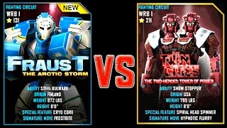 REAL STEEL WRB FRAUST VS Twin Cities (Champion) New Robots UPDATE (Живая сталь)