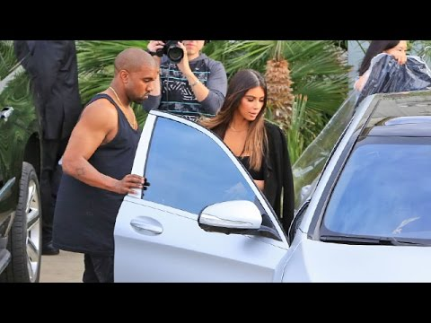 Kanye West And Kim Kardashian In New $400K Maybach, Filming With Khloe And Chrissy Teigen