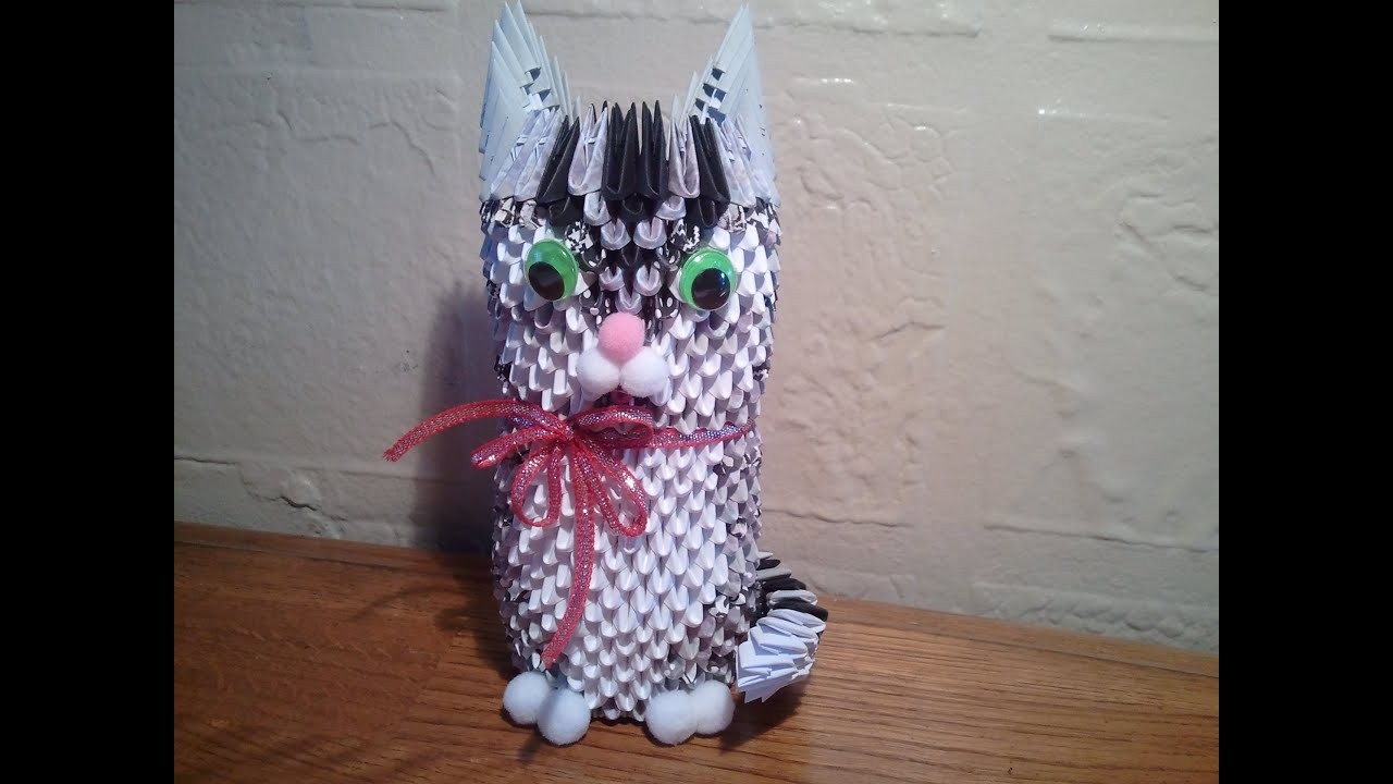 How to make 3d origami cat youtube