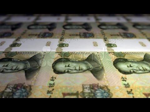 Printing Yuan 3. Stock Footage