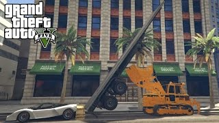 GTA 5 - Top 10 stunts ! Enorme Parking Entry !?