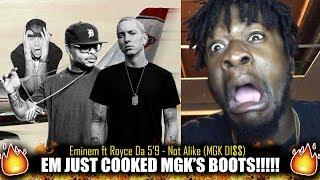 Eminem ft Royce Da 5'9 - Not Alike (MGK Di$$) (Kamikaze Album) REACTION!