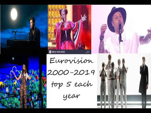 Eurovision 2000-2019: Top 5 Each Year
