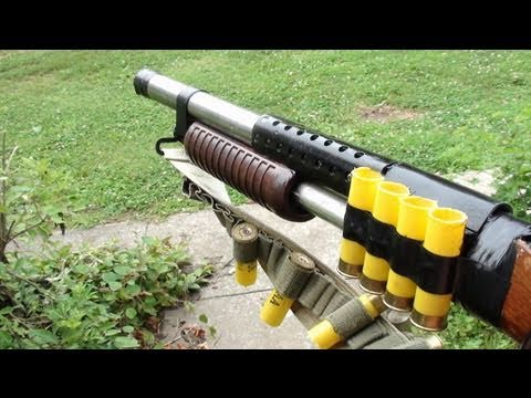 Pump Shotgun Rubber Band Gun - Homemade