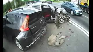 NEW shocking truck and car accident in Russia!Citroen C4 crash!ДТП
