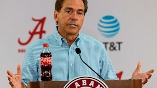 Watch Nick Saban preview Arkansas, talk injuries, at his Monday press conference