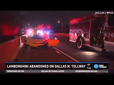 Dallas cops find Lamborghini abandoned on highway