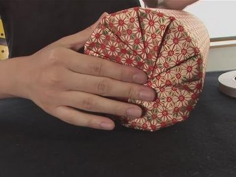 how to gift wrap a circular object youtube