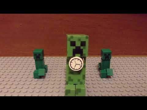 Creeper rap ending B---Lego Minecraft Stop motion