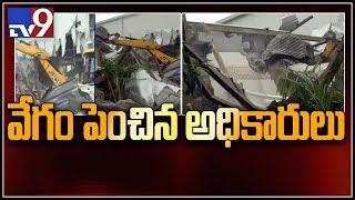 Few hours left for complete demolition of Praja Vedika