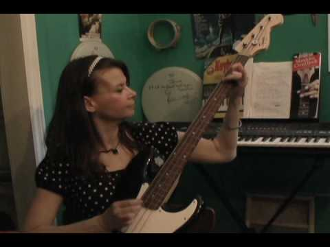 Brenda Lynn Playing Bass Video