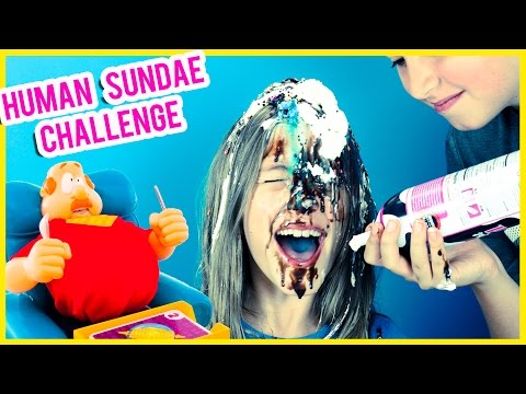 HUMAN SUNDAE CHALLENGE! FAIL TO FART - GASSY GUS GAME! BY PLP TV