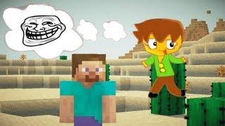 Minecraft - 5 Funny Ways to Troll a Noob