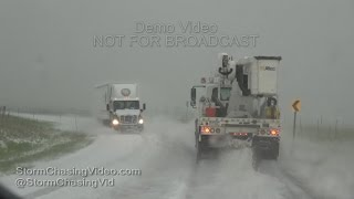 Eastern Colorado Extreme Deep Hail & TimeLapse - 6/23/2016