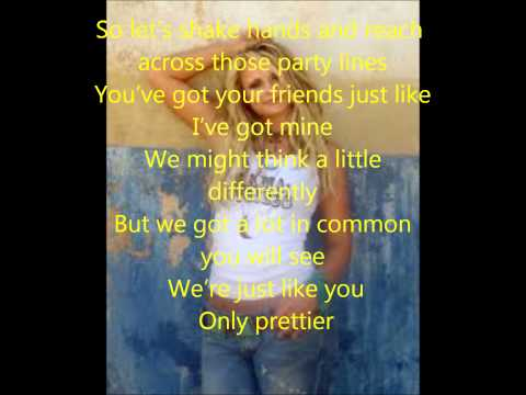 Miranda Lambert Only Prettier [lyrics] video