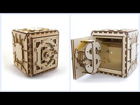 Как сделать копилку сейф из картона 100