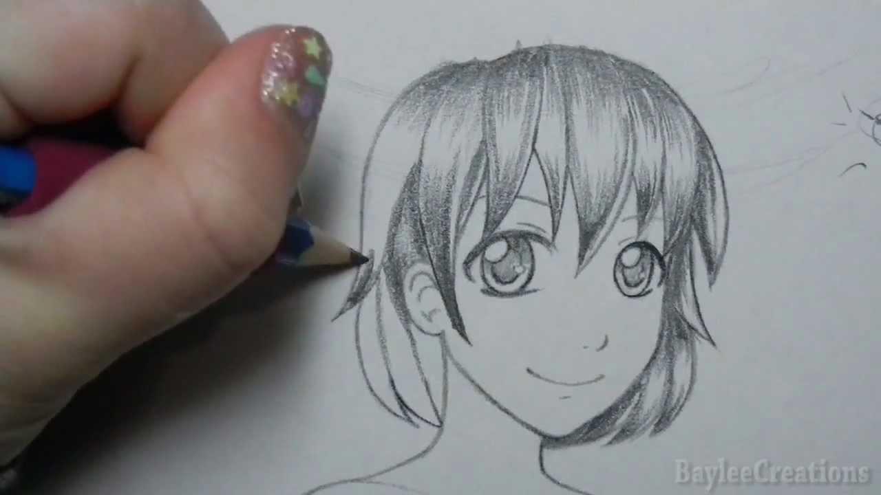 How to Highlight Hair Drawing Manga Hair Highlights Tutorial
