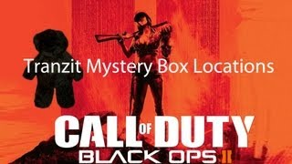Black Ops 2 Zombies - Tranzit Mystery Box Locations