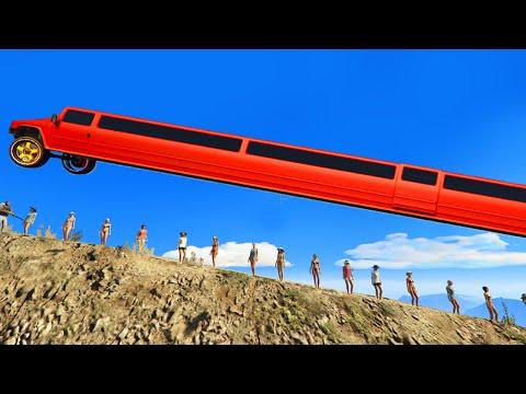 GTA 5 BRUTAL KILL / Fails Moments: #13 (GTA 5 Funny Moments Compilation) WORLD'S LONGEST CAR!!! #2