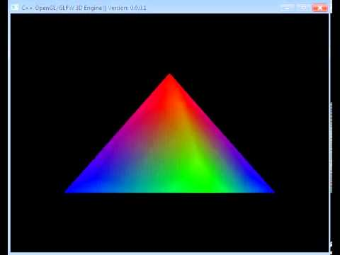 first 3d pyramid render using opengl/glfw youtube
