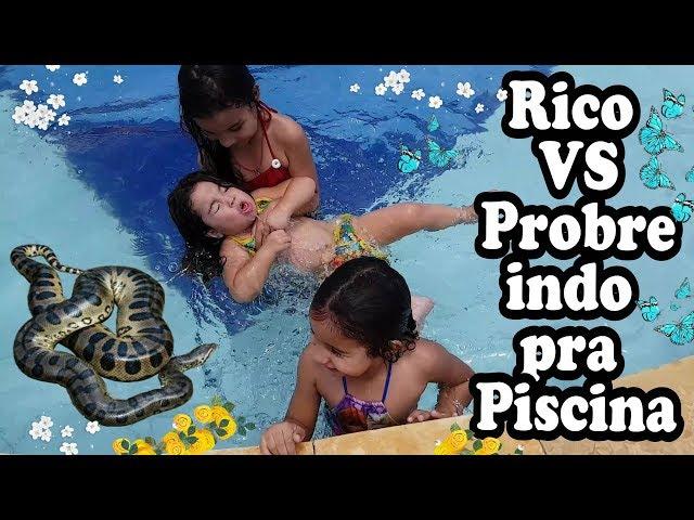 Rico Vs Pobre Parte 2 - indo Para Piscina - Vlog Da Chaylla thumbnail