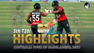 Bangladesh vs Australia Highlights    5th T20i    Australia tour of Bangladesh 2021