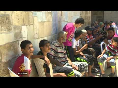 Gazans seek shelter in Christian church