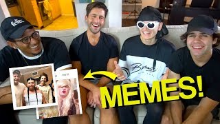 Reacting to VLOG SQUAD MEMES ft. David Dobrik & Josh Peck