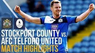 Stockport County Vs AFC Telford United - Match Highlights - 14.04.2018