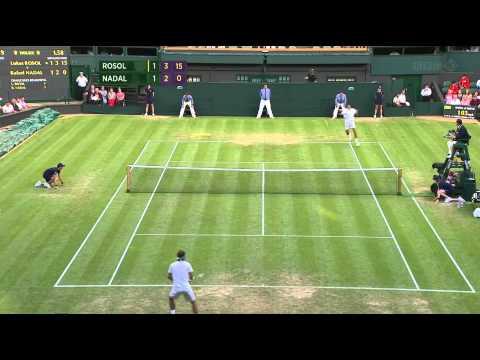 Wimbledon 2012: Rafael Nadal v Lukas Rosol