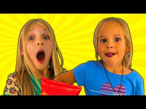 Amelia, Avelina and Akim Compilation Tuesday fun in the garden. Fun family adventure